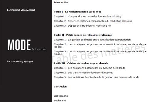 Mode et Internet par Bertrand Jouvenot